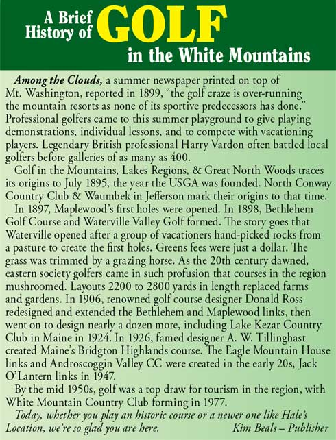 White Mountains of NH Golf History